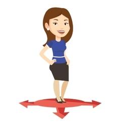 Woman choosing career way vector