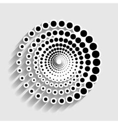 Abstract technology circles sign vector image