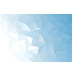blue white light polygonal mosaic background vector image