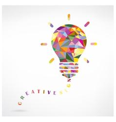 Creative light bulb Idea concept vector image