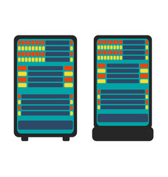 database server icon flat vector image vector image