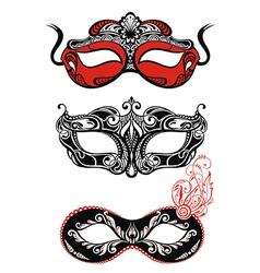 Festive masks silhouette vector image vector image