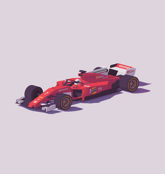 low poly formula racing car vector image vector image