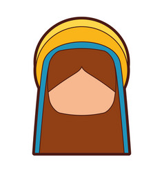 mary virgin manger character vector image