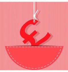 pound money symbol vector image