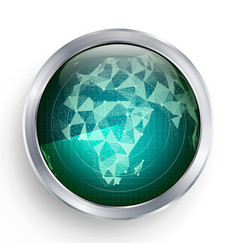 radar africa military abstract screen vector image