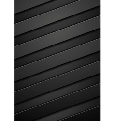 Black tech corporate stripes background vector image