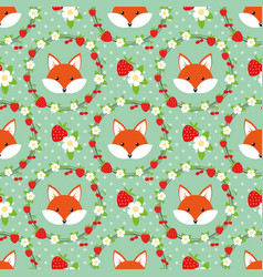 cute cartoon foxes in a frame vector image