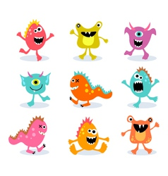 friendly little monsters set 1 vector image