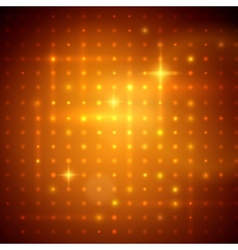 Golden disco lights vector image vector image