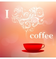I love coffee concept vector image vector image