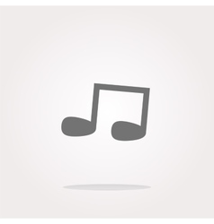 note full music web icon button vector image vector image