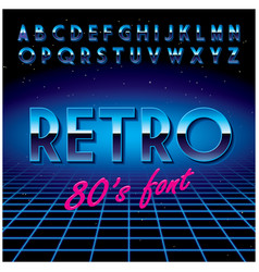 retro stylish font poster vector image