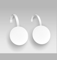 set of white paper plastic advertising wobbler vector image vector image