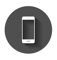 Smartphone icon phone with long shadow vector