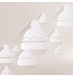 Winter snowboard cap icon vector image vector image