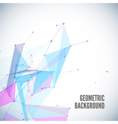 Abstract geometric background with circles lines vector image vector image
