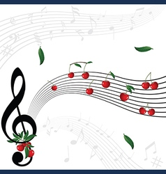 berry music vector image