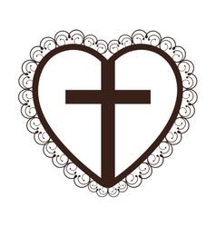 Crucifix christian or catholic icon image vector