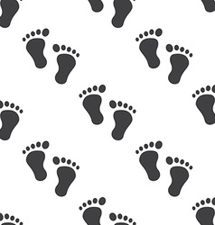 man footprints seamless pattern vector image