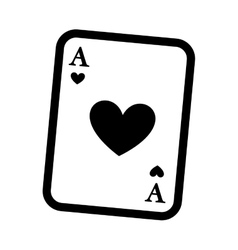 poker card isolated icon design vector image
