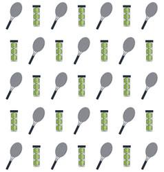 Racket and balls of tennis sport design vector