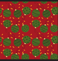 seamless pattern of creative christmas balls vector image vector image