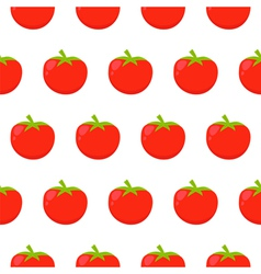 Seamless pattern with red tomatoes vector image