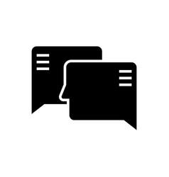 social engagement icon black vector image vector image