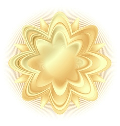 abstract golden flower vector image