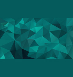 abstract irregular polygonal background blue green vector image