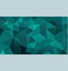 Abstract irregular polygonal background blue green vector