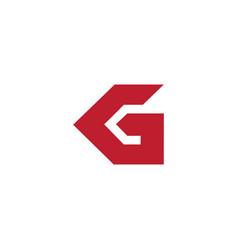 Abstract letter kg arrow simple geometric logo vector