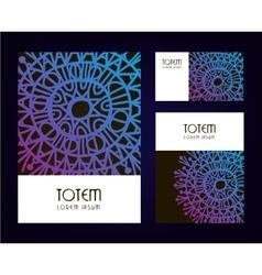 Abstract tribal brochures vector image