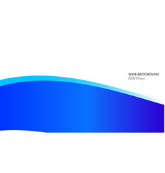 abstract wave background with blue color vector image