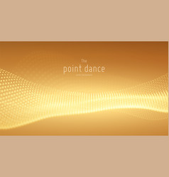abstract yellow particle wave points array vector image