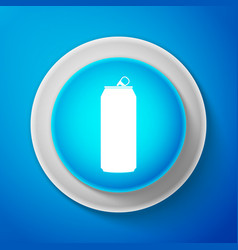aluminum can icon isolated on blue background vector image