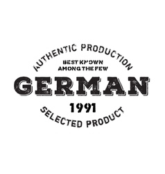 Authentic german product stamp vector image