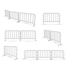 barriers work zone pedestrian construction vector image