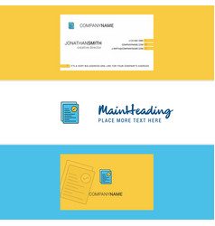 beautiful text document logo and business card vector image