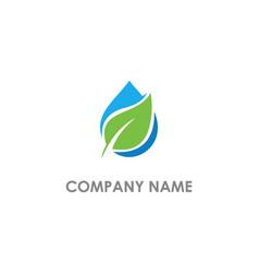 bio eco leaf droplet logo vector image