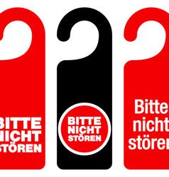 Bitte nicht storen do not disturb signs vector image