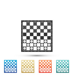 board game of checkers icon on white background vector image
