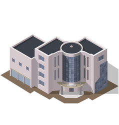 Business modern 3d urban building vector