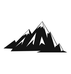 Canadian mountains icon simple style vector