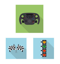 Car and rally logo set of vector