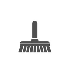 Cleaning mop simple icon sweep a floor vector