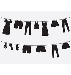 Clothes hanging on the strings vector image