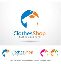 Clothes shop logo template vector