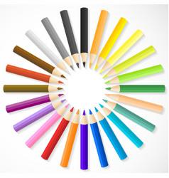 Color pencils arrange in circle vector